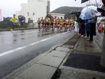 Staff of Kochi municipalities Ashizuri peninsula one round relay road race meeting